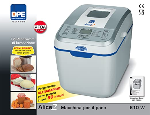 DPE Alice 2 - Panificadora (, 12 programas, 610 W: Amazon.es: Hogar