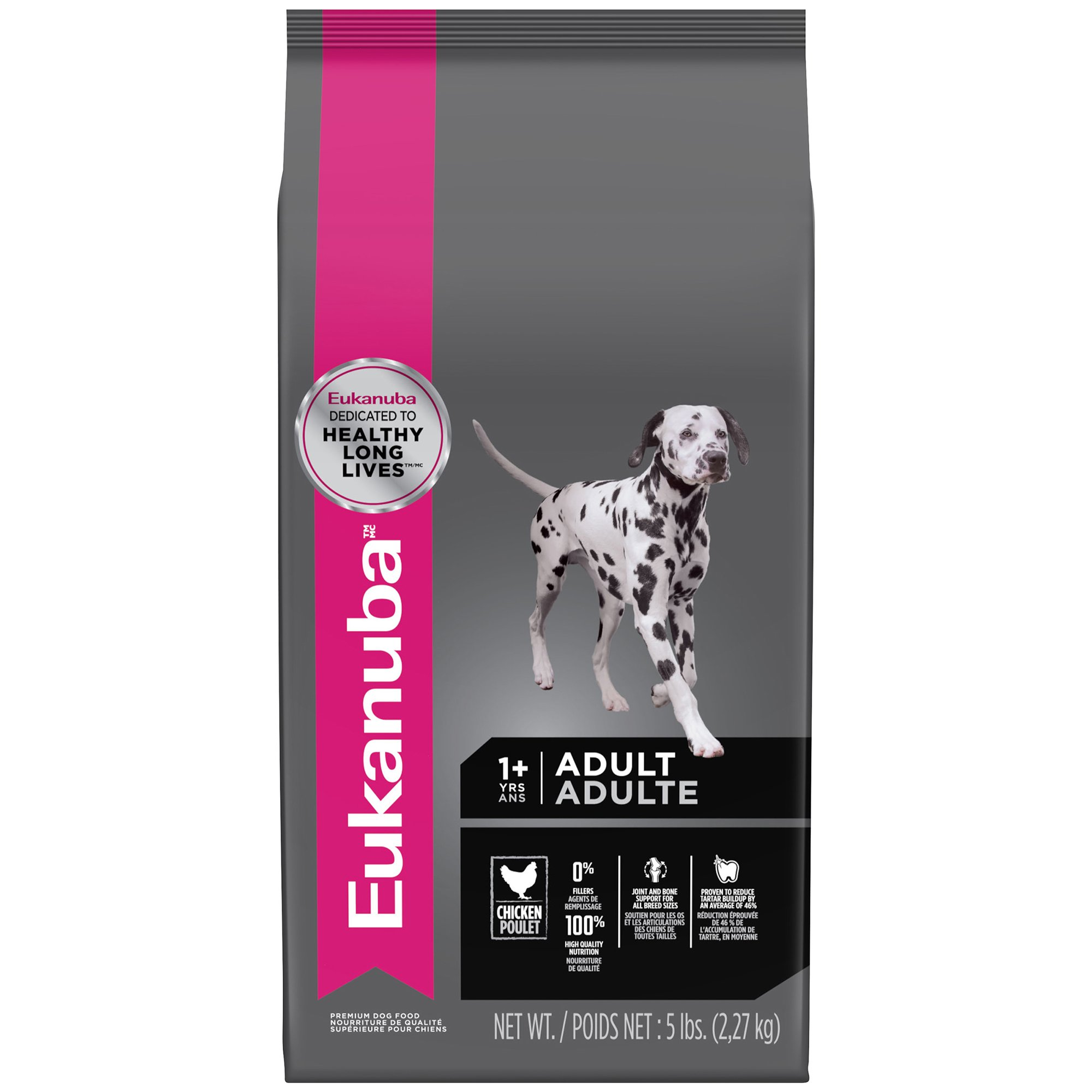 EUKANUBA Adult Dry Dog Food Standard Packaging Chicken 5 lbs.