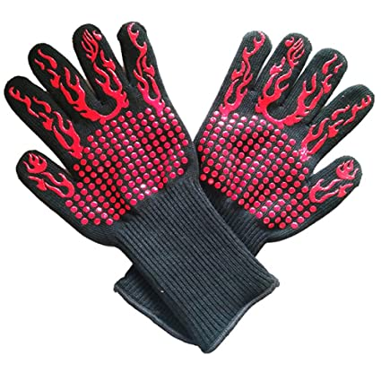 Badry 2Pcs Fsup Glove 500 ° C Guante Resistente al Calor Barbacoa ...