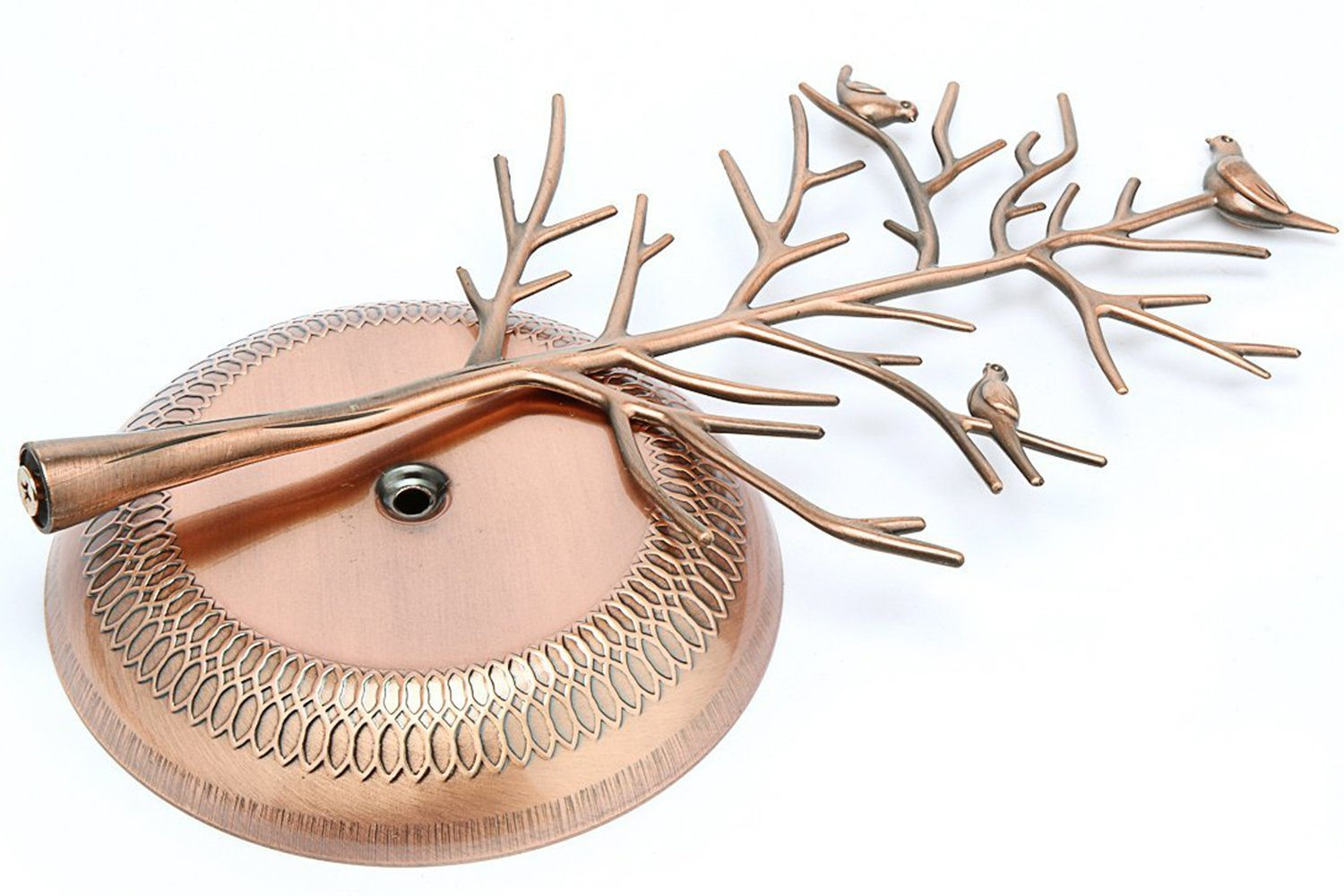 WELL-STRONG Earring Ring Holder Necklace Bird Decoration Jewelry Tower Tree for Girl Bronze by WELL-STRONG (Image #6)