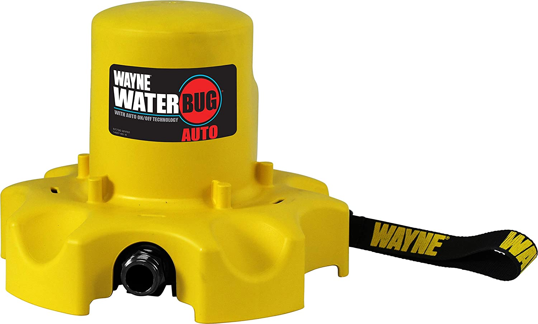 Wayne 57736-WYN1 WWB Waterbug 1/4 HP Auto On/Off Water Removal Tool, Yellow