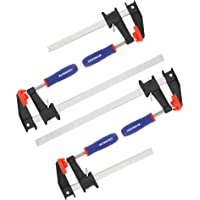 WORKPRO 6-Inch & 12-Inch Steel Bar Clamps Set, 4-pack Quick-Release Clutch Style Bar Clamps, 600 Lbs Load Limit, for…