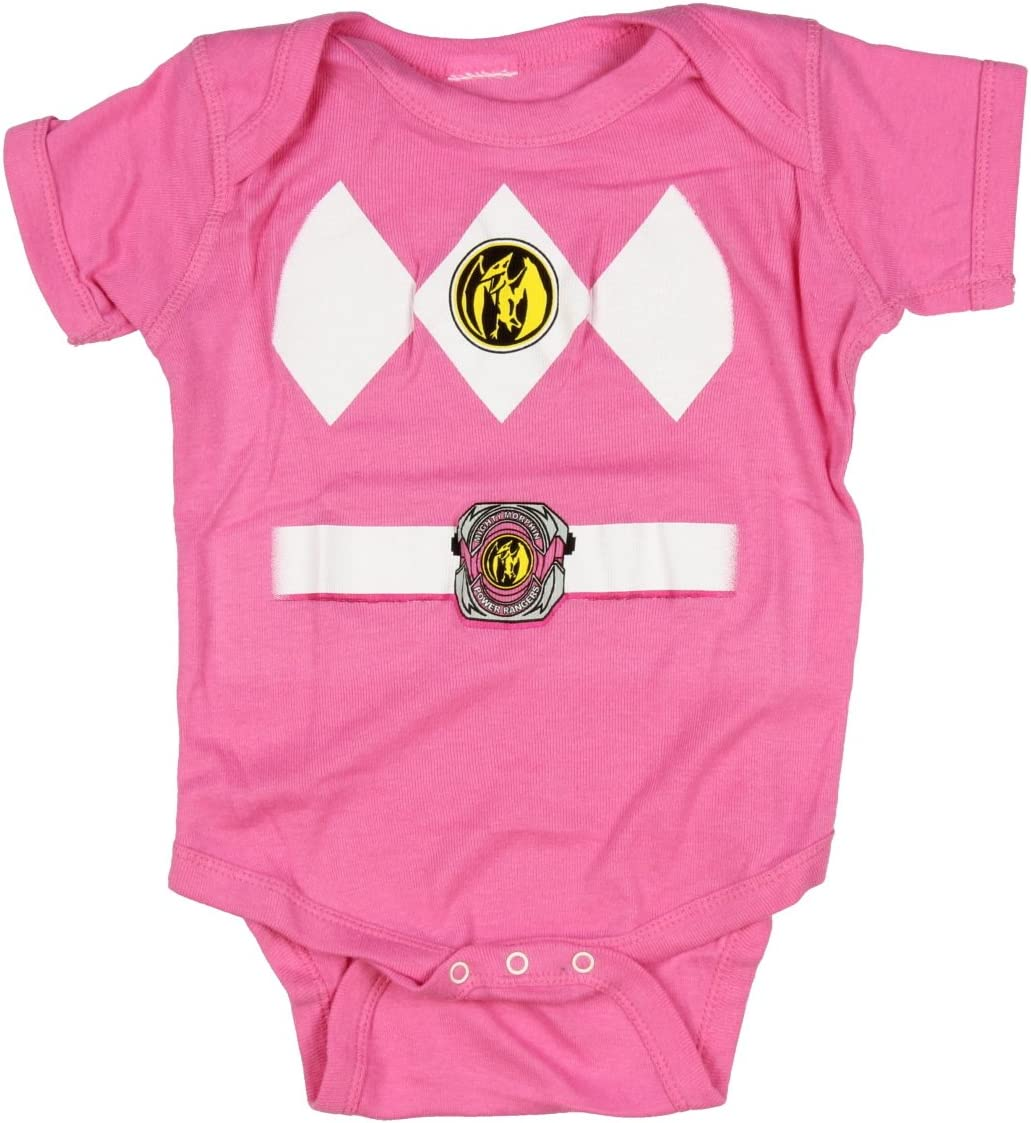 0-6 Monate Power Rangers schwarz Baby Ranger Kost/üm Strampler Onesie