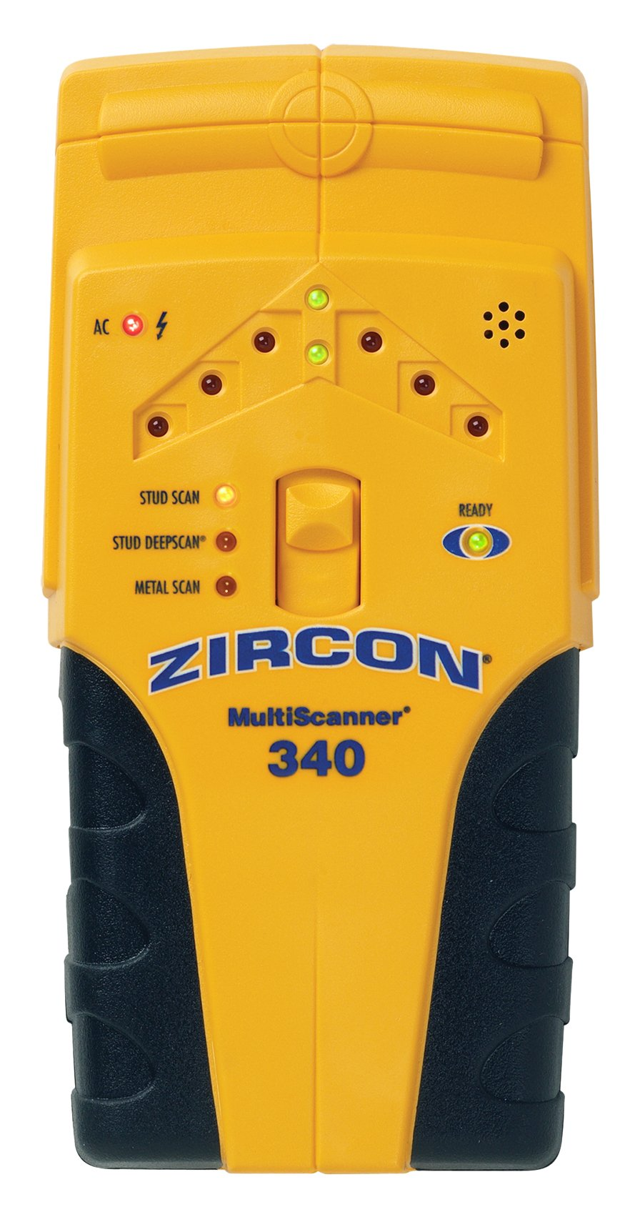 Zircon MultiScanner 340 Electronic Wall Scanner/Edge Finding Stud Finder for Wood and Metal Studs/Metal Detector for Plumbing/Live AC WireWarning Detection to Avoid Hazards