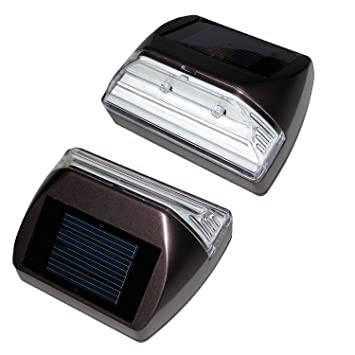 Amazon set of 2 solar deckstep lights rectangle set of 2 solar deckstep lights rectangle illuminates up to 8 hours mozeypictures Images