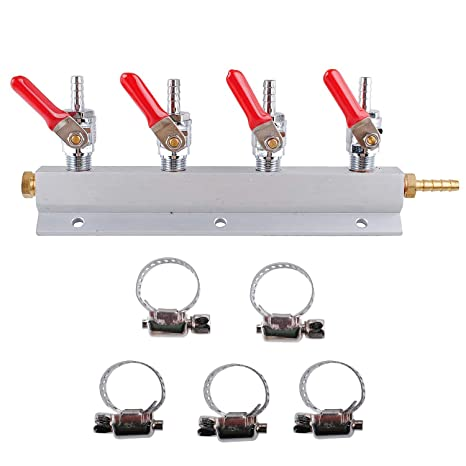 CO2 Distributor Manifold, Beer Gas Distributor, Kegerator Splitter, 4-Way  Kegerator Distributor Manifold 1/4