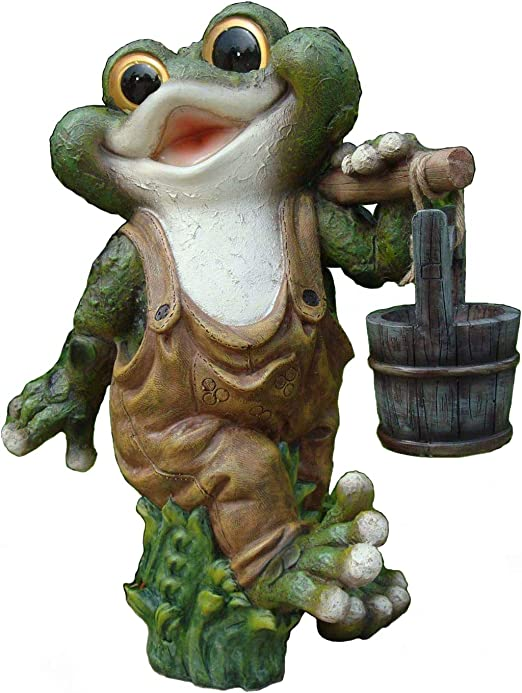Diseño 2 quakender Frosch 40 cm Alto Decodificar Caracteres Jardín GNOME La Decoración del Jardín: Amazon.es: Jardín