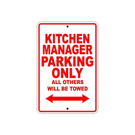 Amazon Com Kitchen Manager Parking Only Gift Decor Novelty