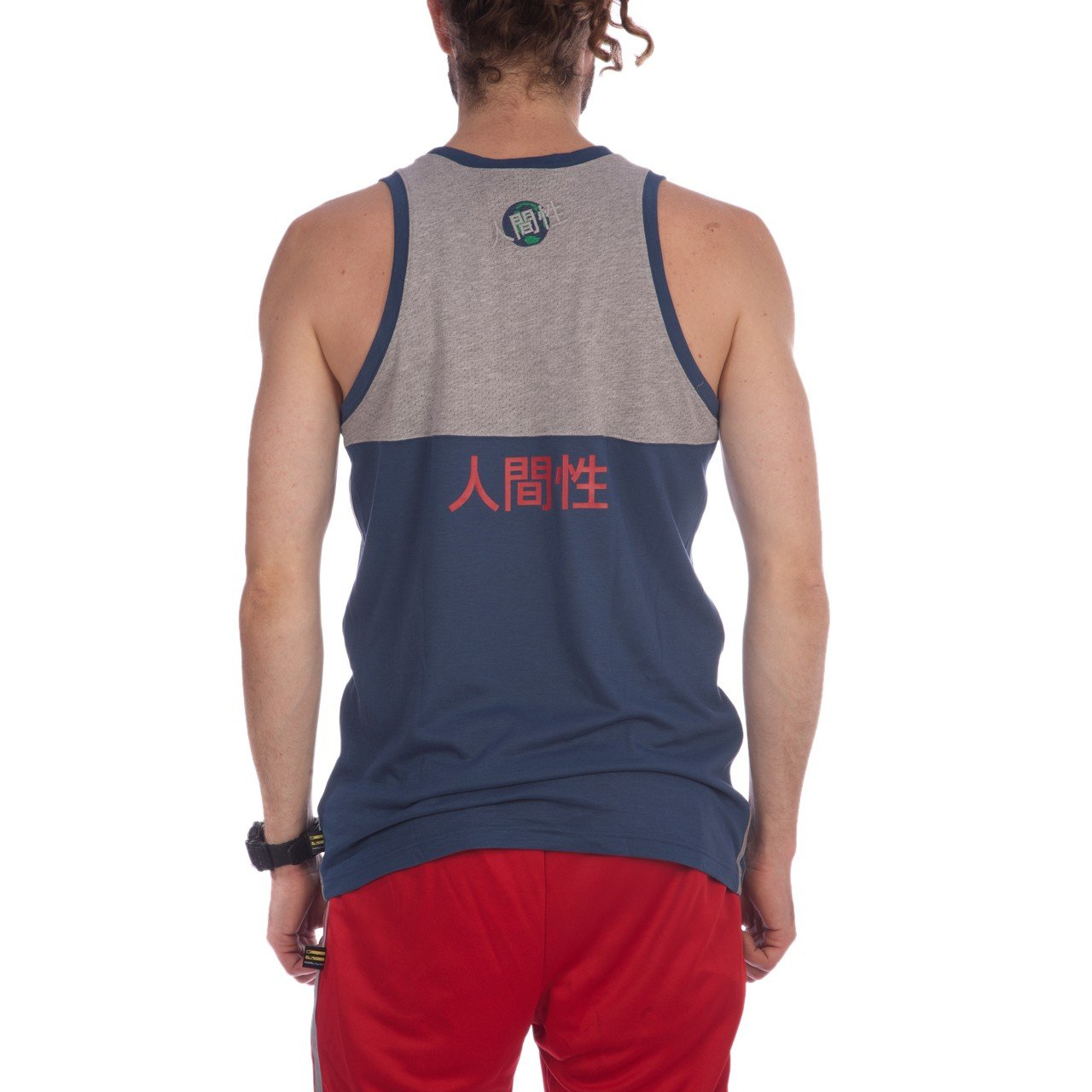 40b3ddc7aa1b1 adidas x Pharrell Williams Men Hu Race Tank Top (Blue Night Marine)  Amazon. co.uk  Clothing