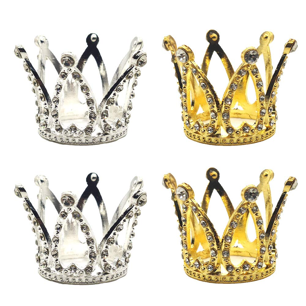 Mini Crown Princess Topper Crystal Pearl Children Hair Ornaments Party DecoPLUS