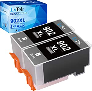LxTek Compatible Ink Cartridge Replacement for HP 902XL 902 to use with Officejet 6978 6968 6962 6954 6975 Printers (2 Pack)