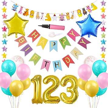 JOYMEMO Artículos para Fiestas de cumpleaños con Temas de ...