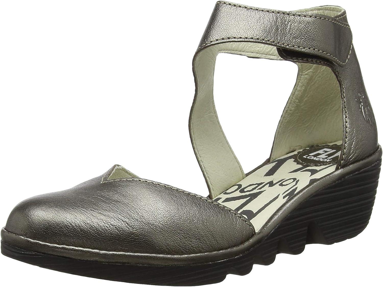 Vlieg Londen vrouwen Pats801fly gesloten teen sandalen Gold Bronze Black Sole 022