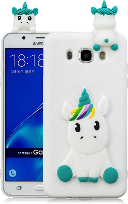 Leton Funda Samsung Galaxy j7 2016 Silicona Unicornio 3D Suave ...