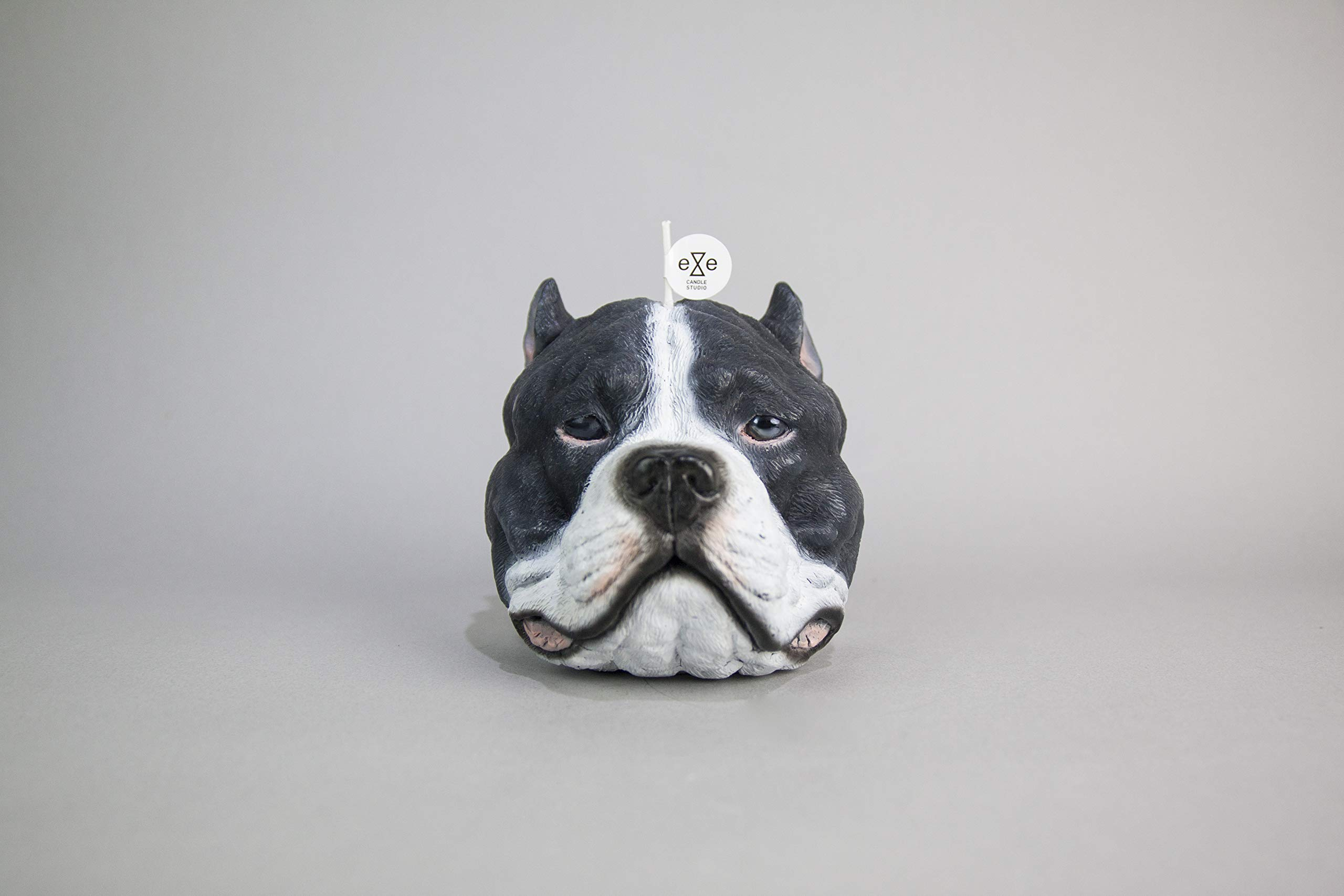 Taste Taiwan Design Staffordshire Bull Terrier (Pit Bull) Candle - Gray and White