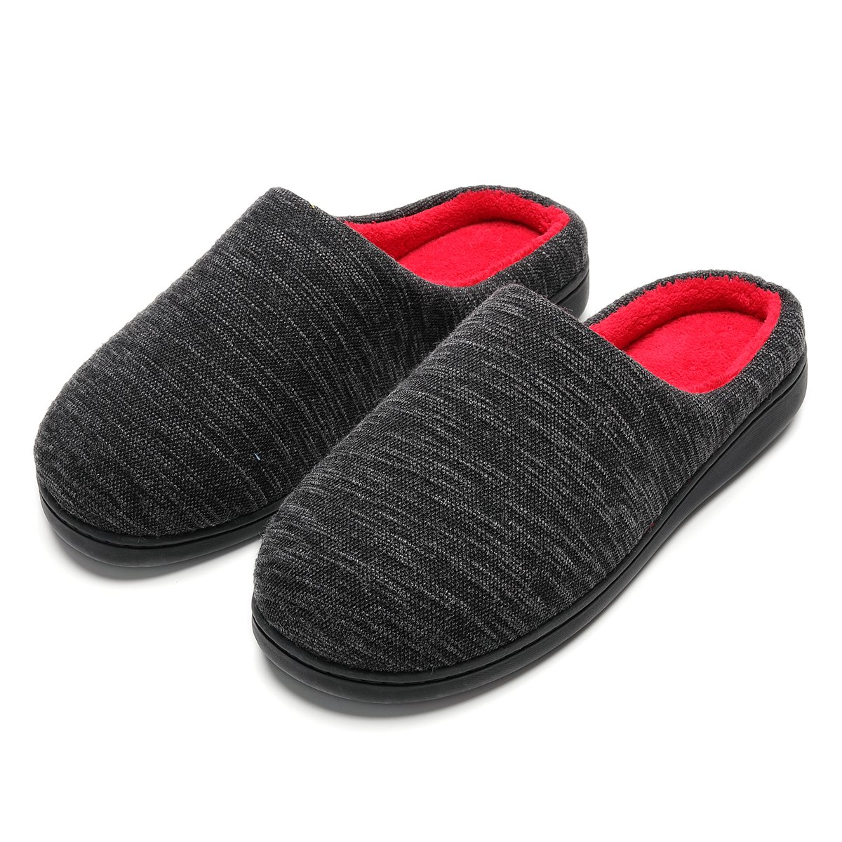 Cozy Spa House Indoor Slippers for Men Warm Lining Clog Furry Slippers by Harrms (Image #2)