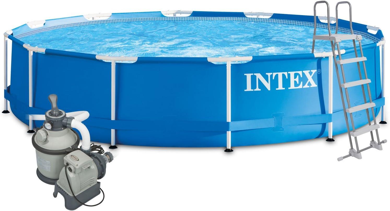 Intex 457x122 Komplettset Sandfilteranlage 4m Sicherheitsleiter