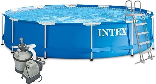 Intex 457 x 122 Juego completo con Intex filtro de arena 4 m³ ...