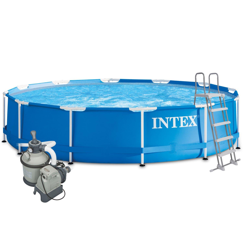 Intex 457x122 Komplettset mit Intex Sandfilteranlage 4m³, Intex ...
