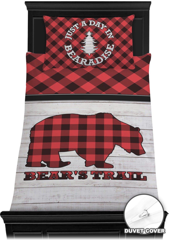 RNK Shops Lumberjack Plaid Duvet Cover Set - Toddler (Personalized)