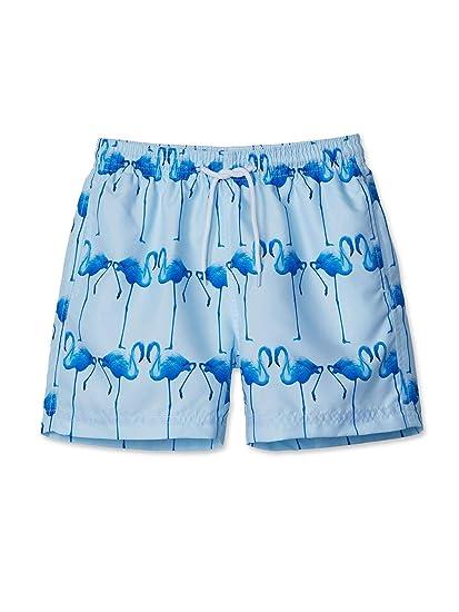 8ae11d0cd7 Stella Cove Big Boys Blue Flamingo Printed Trendy Swimwear Trunks 8