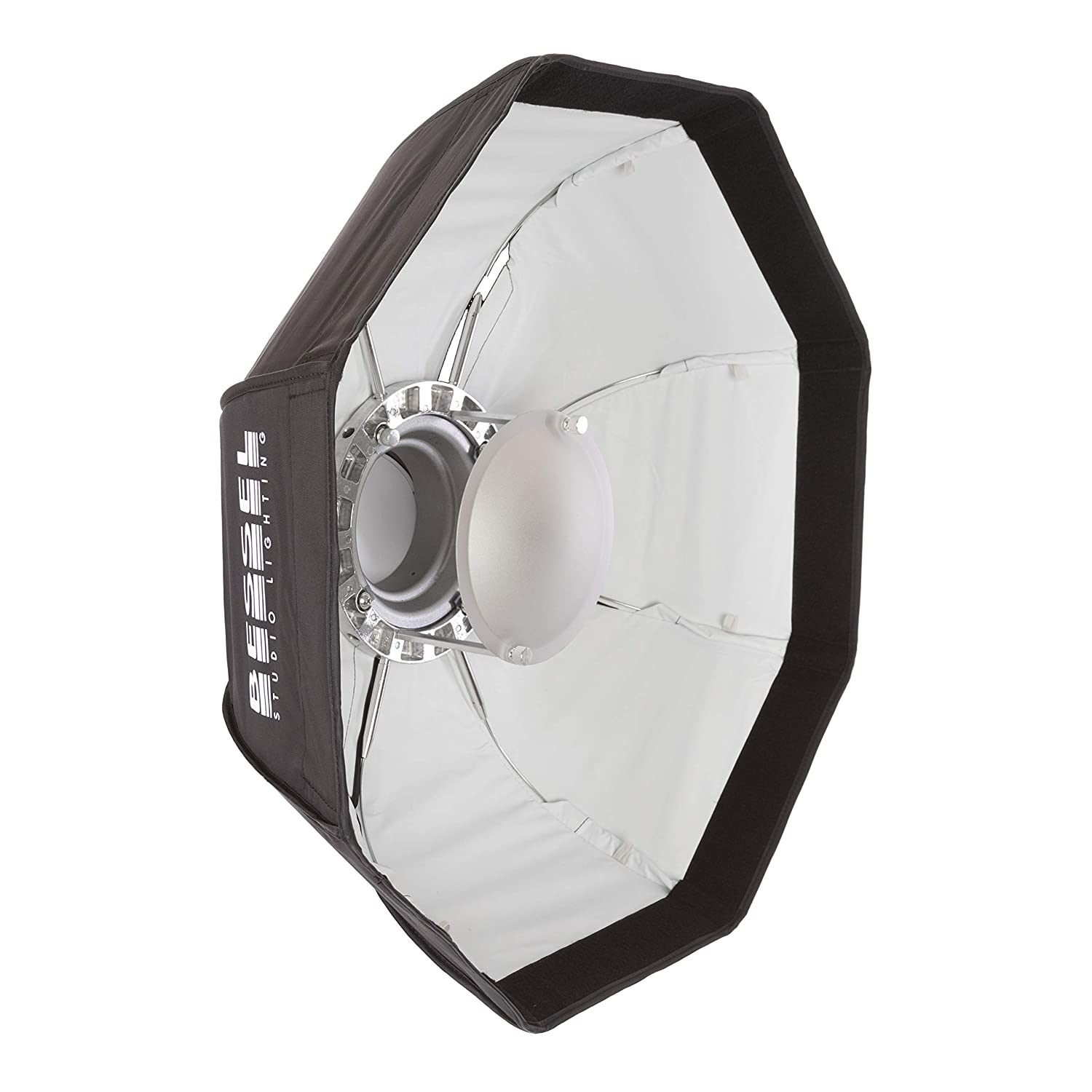White Inner Bessel BSL5079 60 cm 2-in-1 Beauty Dish//Softbox with Double Diffusers and Removable Central Reflector for S-Fit lamps