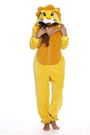 8afc81d66634 Amazon.com  Just Love Lion Adult Onesie Pajamas  Clothing
