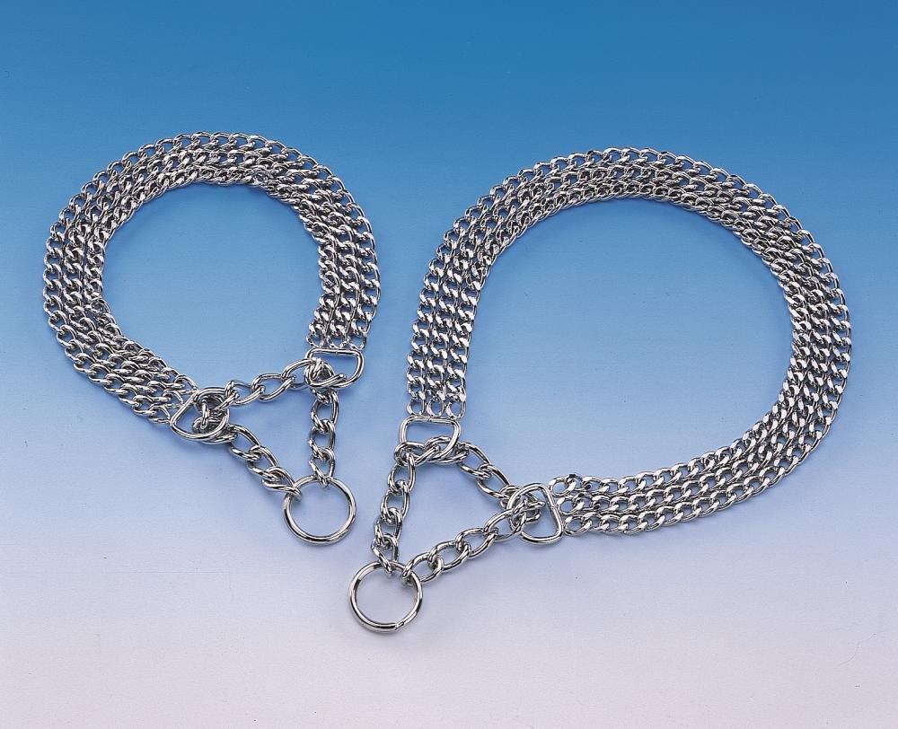 Nobby Chaîne collier trois rangées chromée 73035