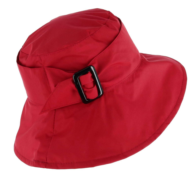 Jeanne Simmons Women's Bucket Hat with Large Belt Adjuster Black