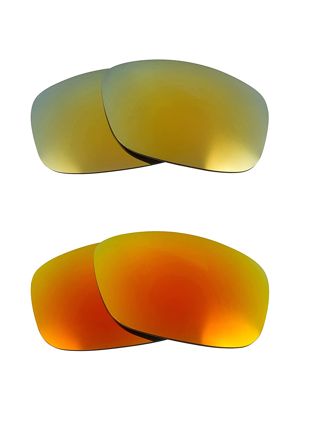 9d2ff2eb74b Oil Drum Replacement Lenses Polarized Yellow   Green by SEEK fits OAKLEY at  Amazon Men s Clothing store