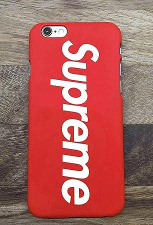 4f9e7b5acb5 Funda Cover supreme rojo iphone x 8+ 7+ 8 7 6S+ 6S 6 (IPHONE 6S/6):  Amazon.es: Electrónica