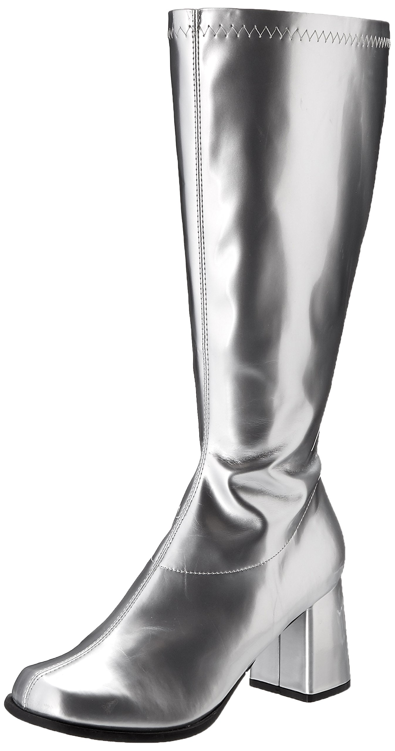 Ellie Shoes Women's Gogo Boot, Silver, 11 M US
