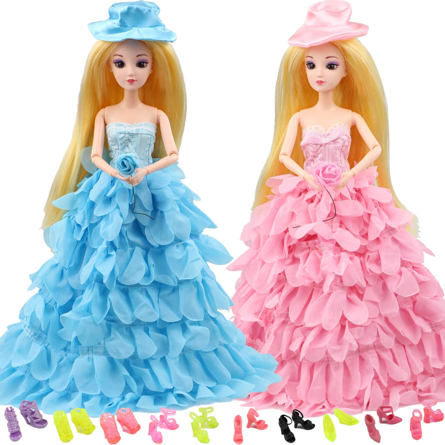 MIBBQ 12pcs Dolls Clothes Shoes