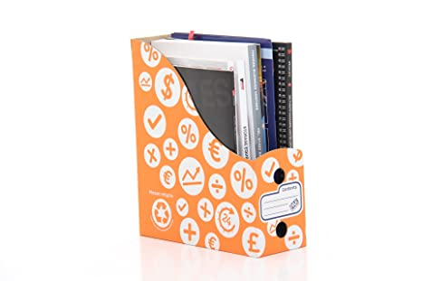 StorePAK - Archivador para documentos y revistas (10 unidades), color naranja