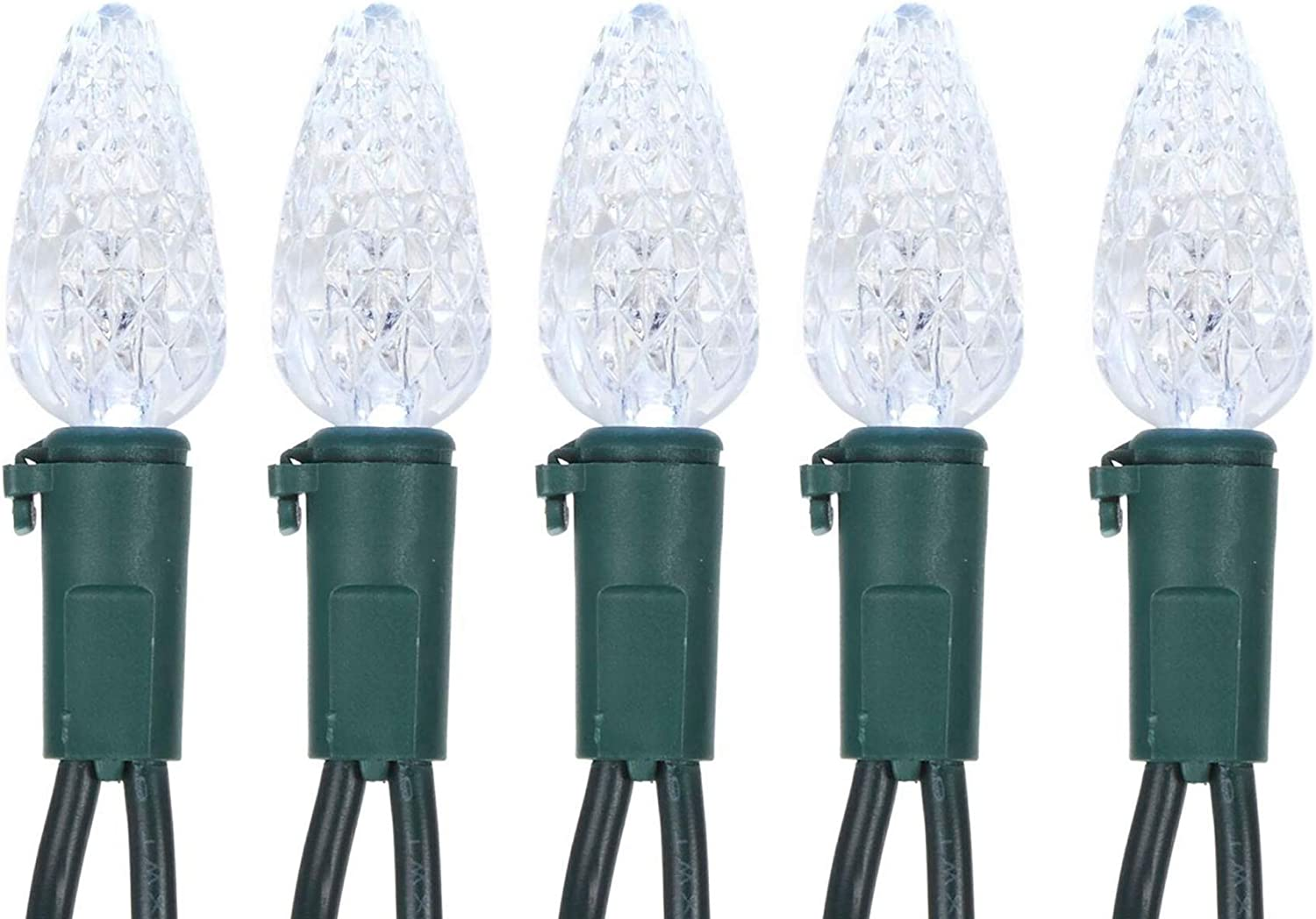 NOMA Christmas Lights Parties Patio Garden and Bedroom 33.3 ft Waterproof Connectable Outdoor /& Indoor Decorative Bulb Lights for Holidays 50 LED String Lights Warm White Lights