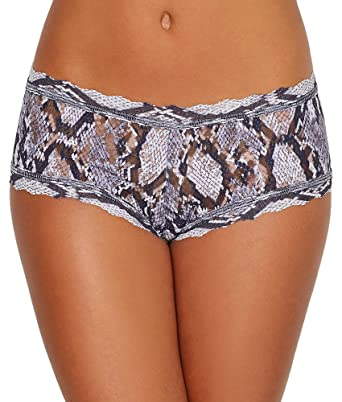 23e0bc12f71 Hanky Panky Womens Grey Python Boyshorts at Amazon Women s Clothing store