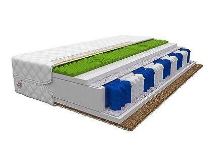 Materasso A Molle O In Schiuma.Materasso A 9 Zone 90x200 Hr Molle Insacchettate A Schiuma Cocco