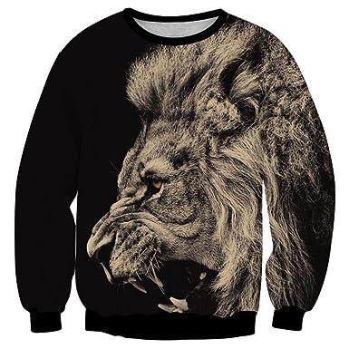 Bsrale Sudadera para Hombre Big Lion Animal Print 3D Clothing Cool Jacket Diseño de Moda Sudaderas Tops Homme Hoodies: Amazon.es: Ropa y accesorios