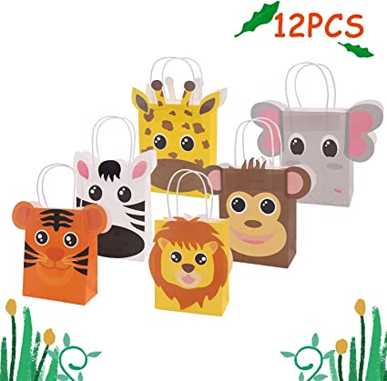 Amazon.com: Bolsas de golosinas para fiestas, Animales de ...