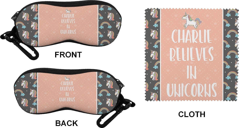 Personalized Unicorns Eyeglass Case /& Cloth