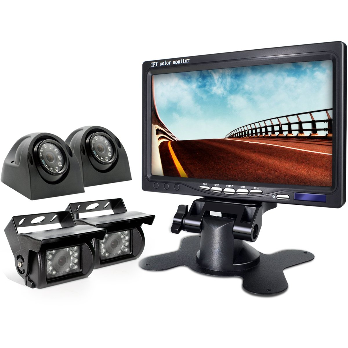 eRapta Reverse Camera with Split Screen Monitor