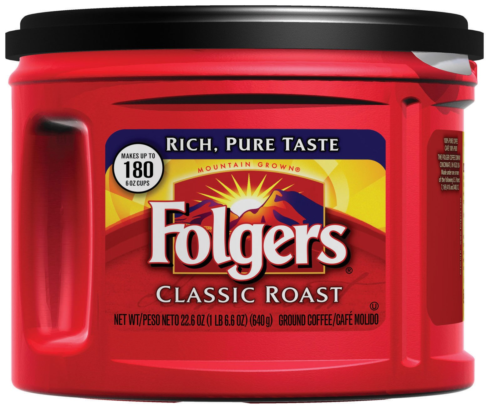 Folgers Classic Roast Ground Coffee, Medium-Roast, 22.6 Ounce (Pack of 6) by Folgers