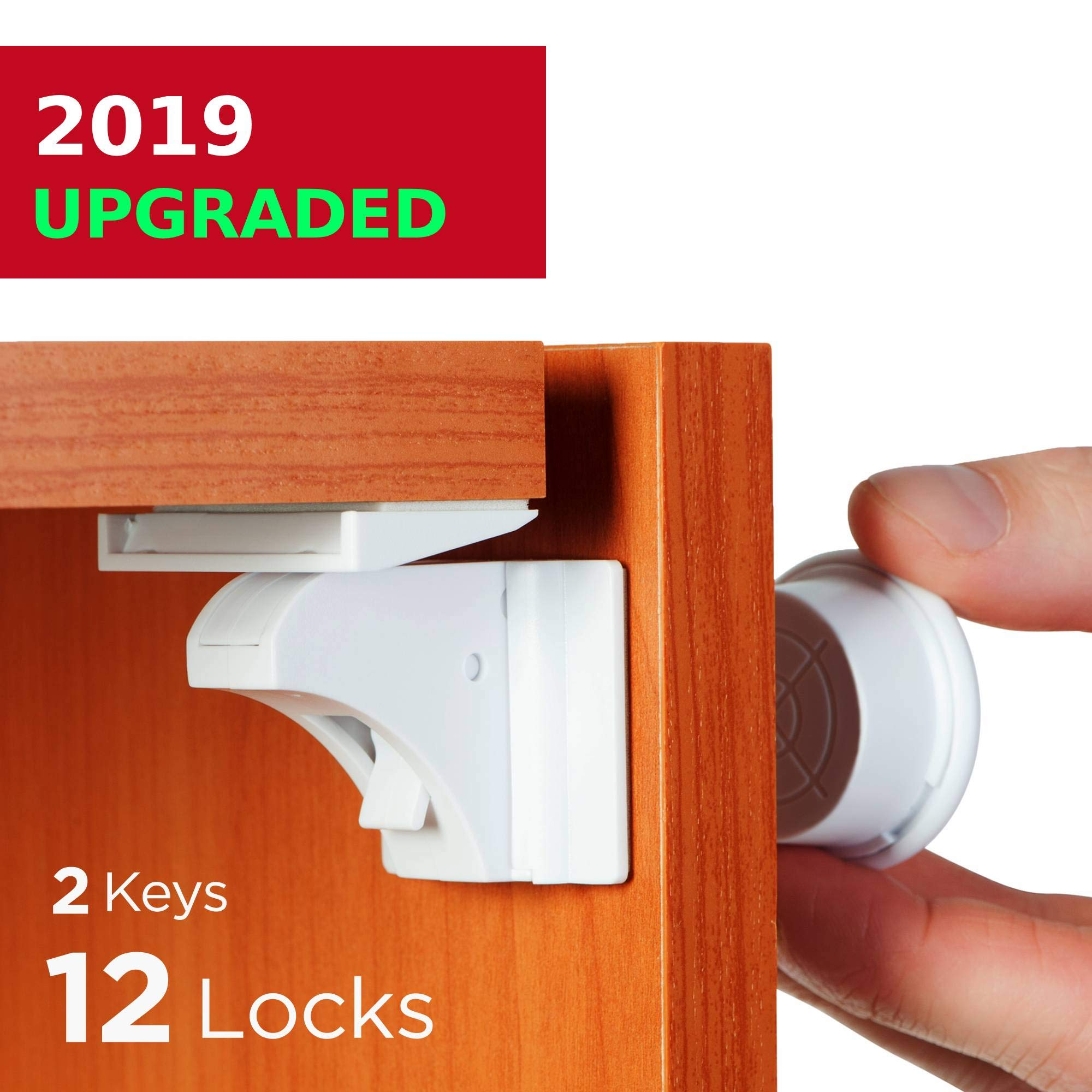BABY TRUST Baby Proofing and Child Proof Magnetic Cabinet Locks (12 Locks) for Child Safety | Cabinets, Cupboards and Drawers | No Screws and Hidden by BABY TRUST