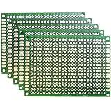KAUMO ユニバーサル基板 両面スルーホール ガラスエポキシ材 2.54mmピッチ (5×7cm 5枚セット)