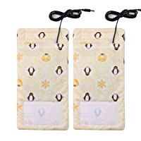 2 Pack of USB Charging with Heating Cord and Thermos Bag for different seasons,...