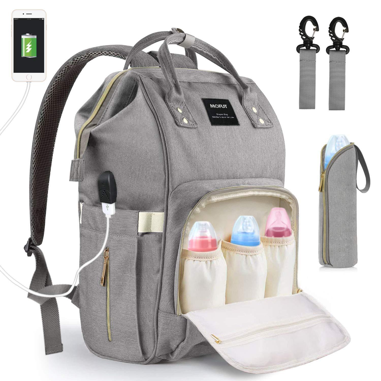Baby Wickeltasche Wickelrucksack, mit USB-Lade Port Kinderwagen-haken Isolierte Tasche für Unterwegs, Große Kapazität product image