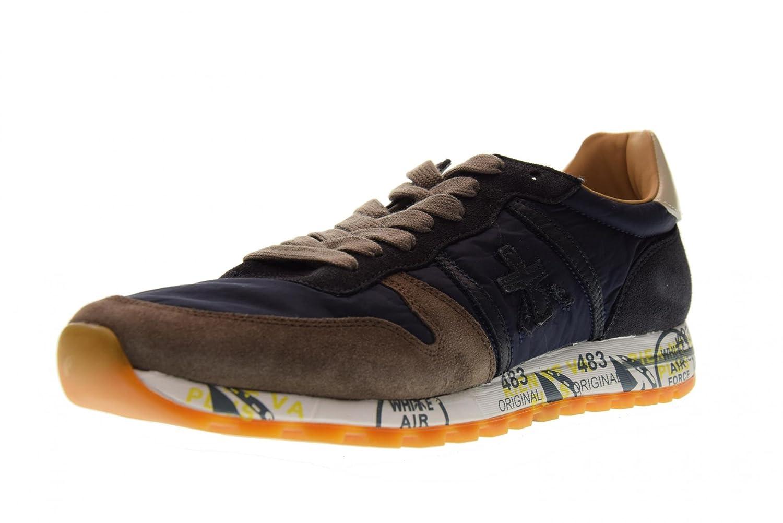 PREMIATA Zapatos Hombre Zapatillas Bajas Eric 2816 Azul / Marrón