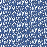 Best Wrapping Paper White Happy Father's Day on Blue...