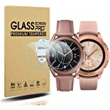 Diruite 4-Pack for Samsung Galaxy Watch 3 41mm and Samsung Galaxy Watch 42mm Screen Protector Tempered Glass [2.5D 9H Hardnes