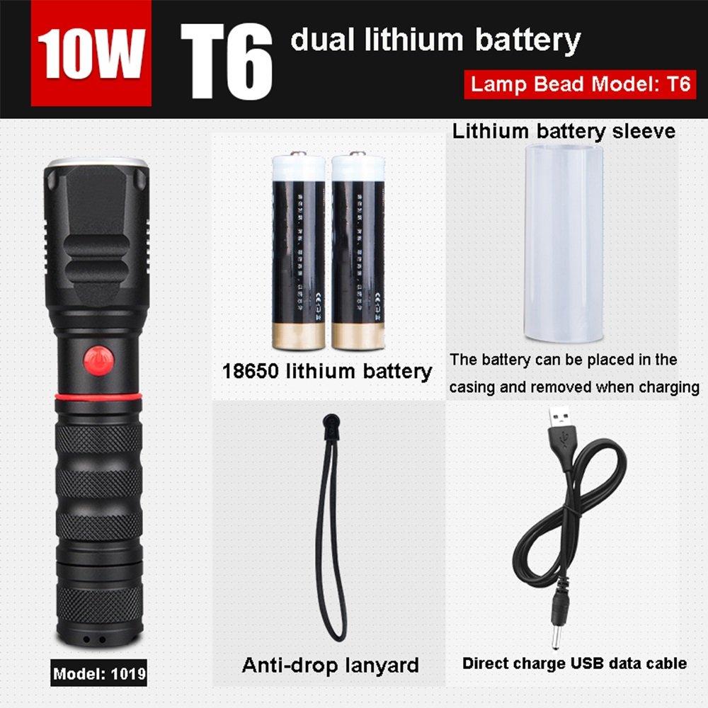 MLMHLMR LED-Akku-Taschenlampe Outdoor-Fernbedienung Searchlight Fan Wasserdichte Taschenlampe Taschenlampe (Ausgabe : D)